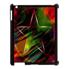 Colorful Background Star Apple iPad 3/4 Case (Black)