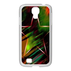Colorful Background Star Samsung Galaxy S4 I9500/ I9505 Case (white)