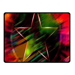 Colorful Background Star Double Sided Fleece Blanket (Small)