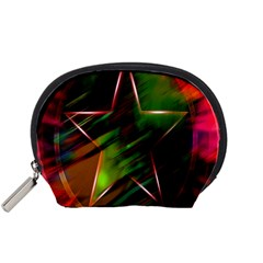 Colorful Background Star Accessory Pouches (Small)