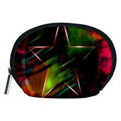 Colorful Background Star Accessory Pouches (Medium)