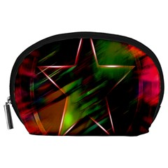 Colorful Background Star Accessory Pouches (large)