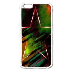 Colorful Background Star Apple Iphone 6 Plus/6s Plus Enamel White Case