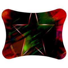 Colorful Background Star Jigsaw Puzzle Photo Stand (bow)
