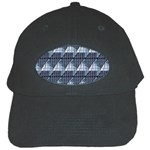 Snow Peak Abstract Blue Wallpaper Black Cap Front