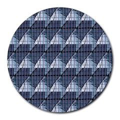 Snow Peak Abstract Blue Wallpaper Round Mousepads
