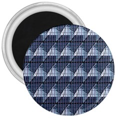 Snow Peak Abstract Blue Wallpaper 3  Magnets
