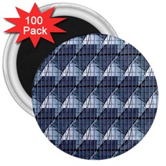 Snow Peak Abstract Blue Wallpaper 3  Magnets (100 Pack)