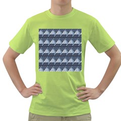 Snow Peak Abstract Blue Wallpaper Green T-Shirt