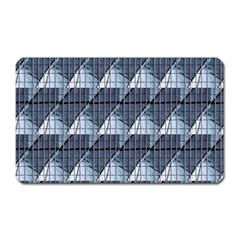 Snow Peak Abstract Blue Wallpaper Magnet (Rectangular)