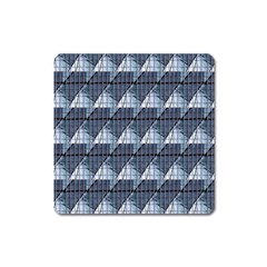 Snow Peak Abstract Blue Wallpaper Square Magnet