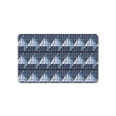 Snow Peak Abstract Blue Wallpaper Magnet (name Card)
