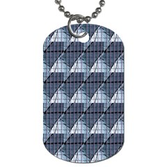 Snow Peak Abstract Blue Wallpaper Dog Tag (one Side)