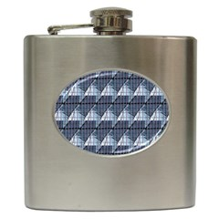 Snow Peak Abstract Blue Wallpaper Hip Flask (6 Oz)