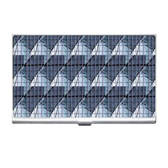 Snow Peak Abstract Blue Wallpaper Business Card Holders