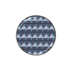 Snow Peak Abstract Blue Wallpaper Hat Clip Ball Marker