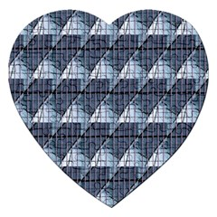 Snow Peak Abstract Blue Wallpaper Jigsaw Puzzle (Heart)