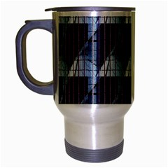 Snow Peak Abstract Blue Wallpaper Travel Mug (silver Gray)