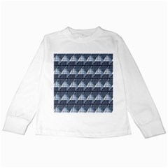 Snow Peak Abstract Blue Wallpaper Kids Long Sleeve T Shirts