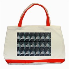 Snow Peak Abstract Blue Wallpaper Classic Tote Bag (Red)