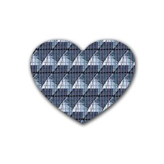 Snow Peak Abstract Blue Wallpaper Heart Coaster (4 pack)