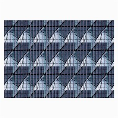 Snow Peak Abstract Blue Wallpaper Large Glasses Cloth (2-Side)