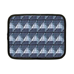 Snow Peak Abstract Blue Wallpaper Netbook Case (small)