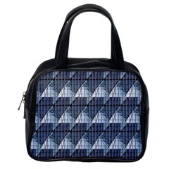 Snow Peak Abstract Blue Wallpaper Classic Handbags (One Side)