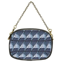 Snow Peak Abstract Blue Wallpaper Chain Purses (Two Sides)