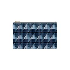 Snow Peak Abstract Blue Wallpaper Cosmetic Bag (Small)