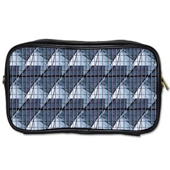 Snow Peak Abstract Blue Wallpaper Toiletries Bags