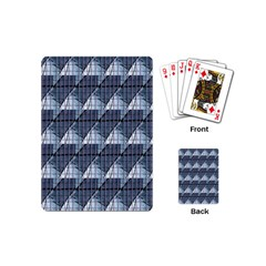 Snow Peak Abstract Blue Wallpaper Playing Cards (mini)