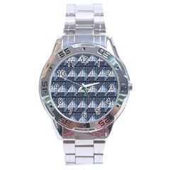 Snow Peak Abstract Blue Wallpaper Stainless Steel Analogue Watch