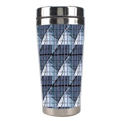 Snow Peak Abstract Blue Wallpaper Stainless Steel Travel Tumblers