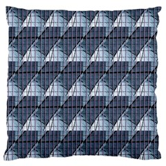Snow Peak Abstract Blue Wallpaper Standard Flano Cushion Case (Two Sides)