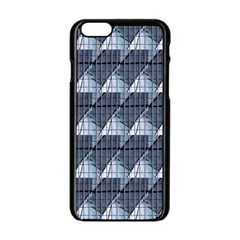 Snow Peak Abstract Blue Wallpaper Apple iPhone 6/6S Black Enamel Case
