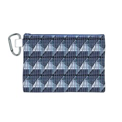 Snow Peak Abstract Blue Wallpaper Canvas Cosmetic Bag (m)