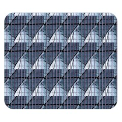 Snow Peak Abstract Blue Wallpaper Double Sided Flano Blanket (Small)