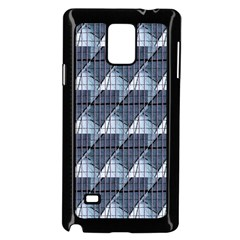 Snow Peak Abstract Blue Wallpaper Samsung Galaxy Note 4 Case (Black)