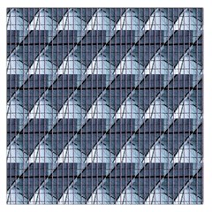 Snow Peak Abstract Blue Wallpaper Large Satin Scarf (square)