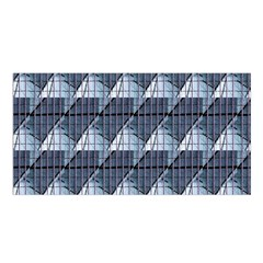 Snow Peak Abstract Blue Wallpaper Satin Shawl