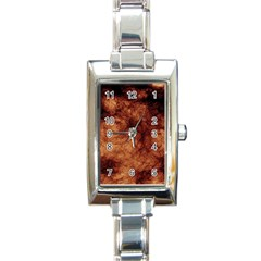 Abstract Brown Smoke Rectangle Italian Charm Watch