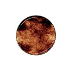 Abstract Brown Smoke Hat Clip Ball Marker (4 Pack)
