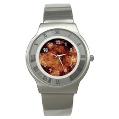 Abstract Brown Smoke Stainless Steel Watch