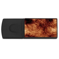 Abstract Brown Smoke Usb Flash Drive Rectangular (4 Gb)