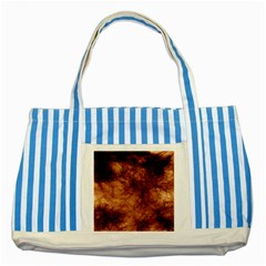 Abstract Brown Smoke Striped Blue Tote Bag