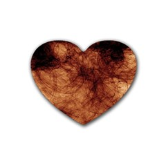Abstract Brown Smoke Heart Coaster (4 pack)
