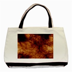 Abstract Brown Smoke Basic Tote Bag (Two Sides)