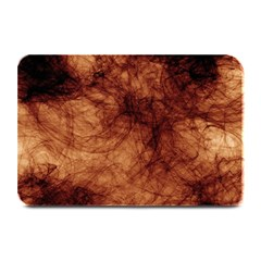 Abstract Brown Smoke Plate Mats