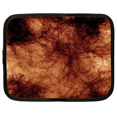 Abstract Brown Smoke Netbook Case (Large)